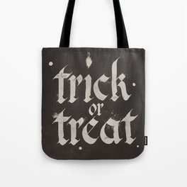 Calligraphy Trick or Treat Tote Bag
