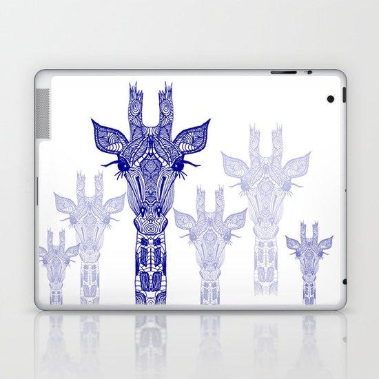 GIRAFFE BLUE Laptop & iPad Skin