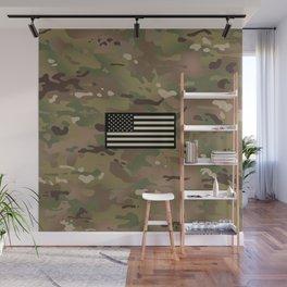 U.S. Flag: Woodland Camouflage Wall Mural