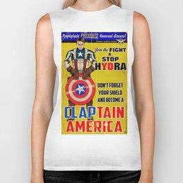 Claptain America Biker Tank