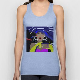 """Driving with my best friend"" Paulette Lust's Original, Contemporary, Whimsical, Colorful Art Unisex Tank Top"