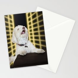 Max's 1990s Yearbook Photo: Yellow Grid Stationery Cards