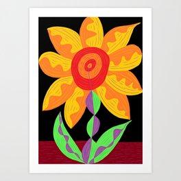Flower of the imagination Art Print