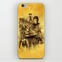 mad max iPhone & iPod Skins featuring Homage to Mad Max by Giorgio Finamore