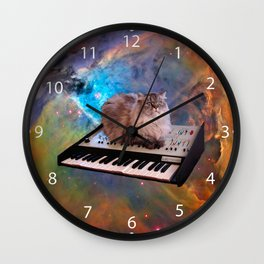 Cat on a Keyboard in Space                                                       Wall Clock
