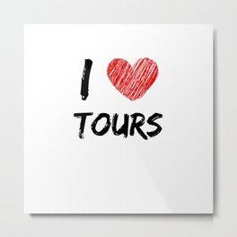 I Love Tours Metal Print