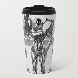 Metroid - Samus Aran Line Art Vector Character Poster Travel Mug