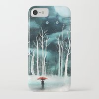 snow iPhone & iPod Cases featuring Snow by youcoucou