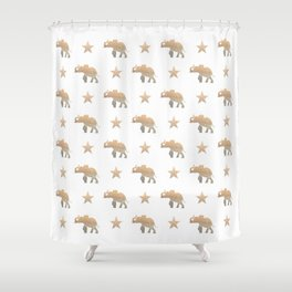 ELEPHANT & STARS Shower Curtain