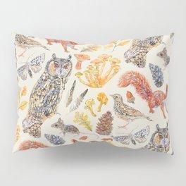 Autumn Wildlife Pattern Neutral Pillow Sham