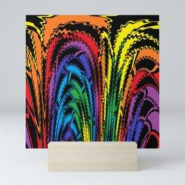 Tossing the Rainbow Mini Art Print