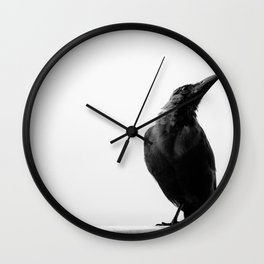 Posing Crow Wall Clock