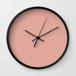 Soft Blush Clay Pink Solid Wall Clock