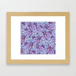 Blue Purple Grape Pattern Framed Art Print