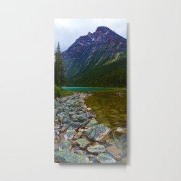 Cavell Lake in Jasper National Park, Canada Metal Print