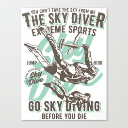 The Sky Driver Extreme Sports Canvas Print