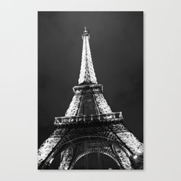 retro eiffel tower  Canvas Print