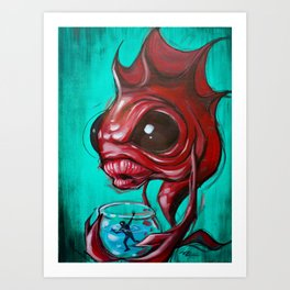 Fish Bowled Art Print