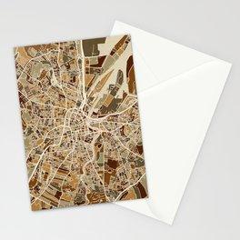 Belfast Northern Ireland City Map Stationery Cards