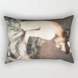 thinking girl / solitude Rectangular Pillow