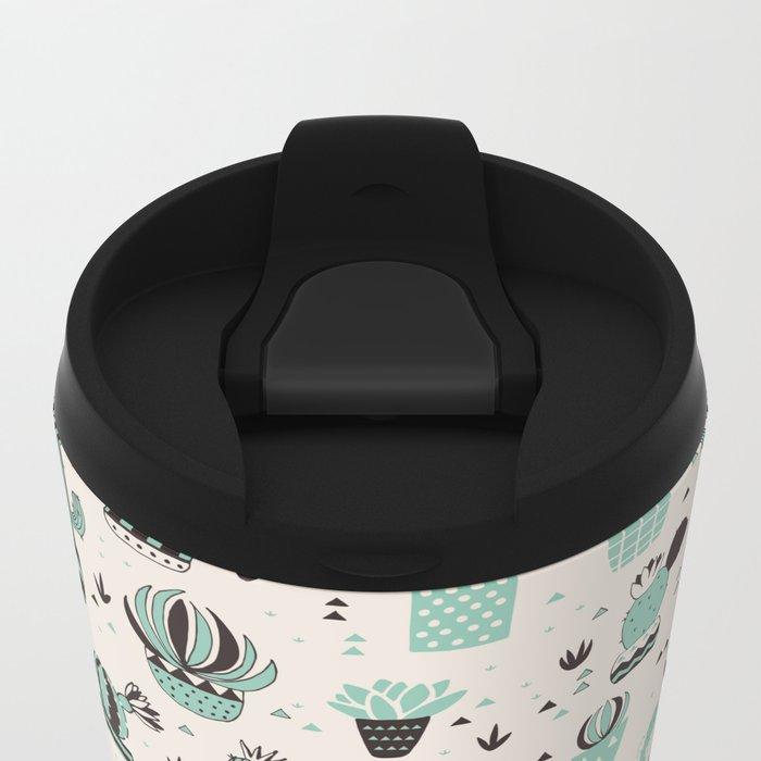 Cacti in a pot Metal Travel Mug