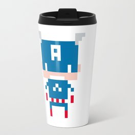 Pixel Captain America Travel Mug