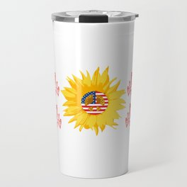 "Grea Gift For Daughters ""She's A Good Girl Loves Her Mama Loves Jesus & America Too"" T-shirt Design Travel Mug"