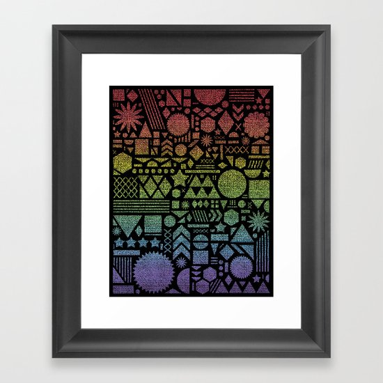 Modern Elements with Spectrum. Framed Art Print