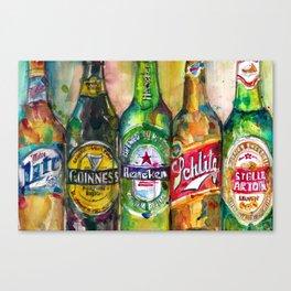 Miller Lite - Guinness- Heineken -Schlitz-Stella Artois Canvas Print