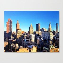 Manhattan Skyline Approaches Dusk - West Village, NYC Canvas Print
