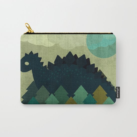BLUE DINO Carry-All Pouch