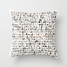 Dogs, Dogs and dogs Throw Pillow