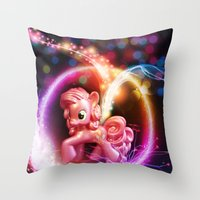 jenny liz rome Throw Pillows featuring Jenny by Autumn Steam