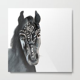 Shadow Wild Heart Horse Metal Print