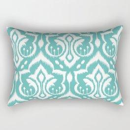 Ikat Damask Aqua Rectangular Pillow