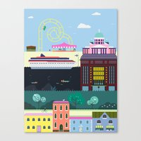 finland Canvas Prints featuring Helsinki, Finland by Thomas W