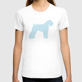 Schnauzer blue wall art sky blue T-shirt