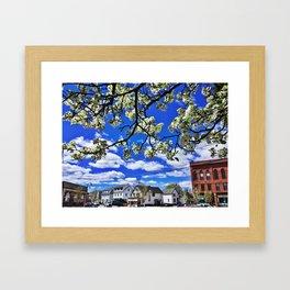 Springtime in Knightville, South Portland, Maine Framed Art Print
