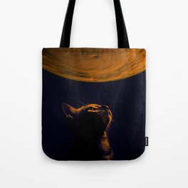 Cat on Mars Tote Bag