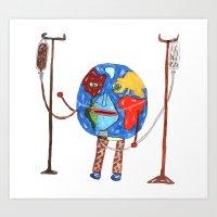 Mundinho - Sick Art Print