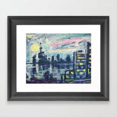 Magical City Evening Framed Art Print