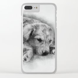 Sweet Cappuccino Puppy Clear iPhone Case