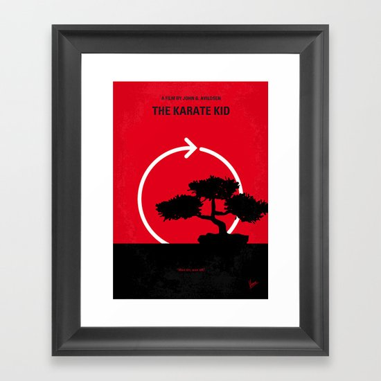 No125 My KARATE KID minimal movie poster Framed Art Print