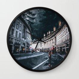 Cycling at Regent Street by GEN Z Wall Clock