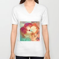 tiki V-neck T-shirts featuring Tiki Tiki by Ginger Del Rey