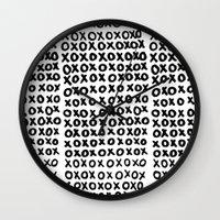 xoxo Wall Clocks featuring XOXO by Geryes
