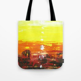 Beautiful Sunset by Australian Artist Vidy Potdar Tote Bag