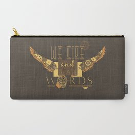 Cassandra Clare - We Live And Breathe Words Carry-All Pouch