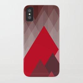 Triangular Mountain Range iPhone Case