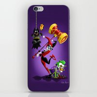 harley quinn iPhone & iPod Skins featuring Harley Quinn by The Art of Eileen Marie